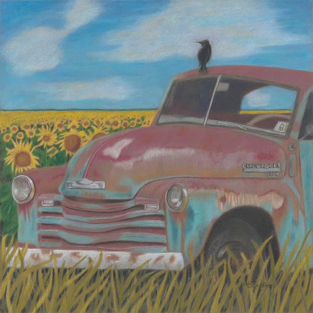 """Rust and Gold (framed)"" original fine art by Arlene Crafton"