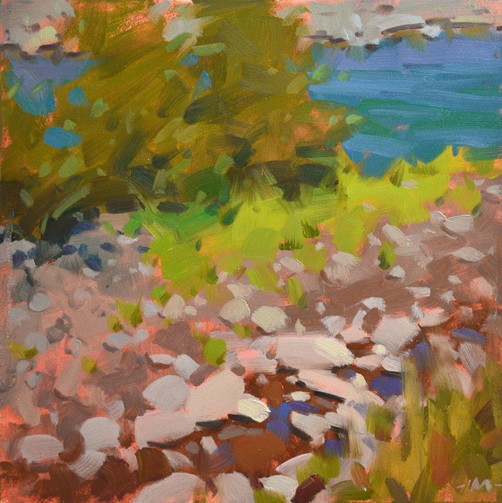 """Creek vs. River"" original fine art by Carol Marine"