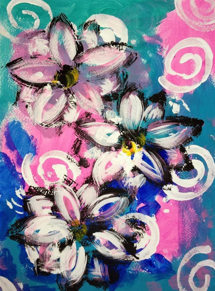 """Three of a Kind"" original fine art by Kali Parsons"