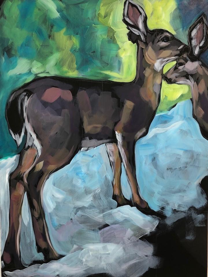 """Mother's Touch"" original fine art by Kat Corrigan"