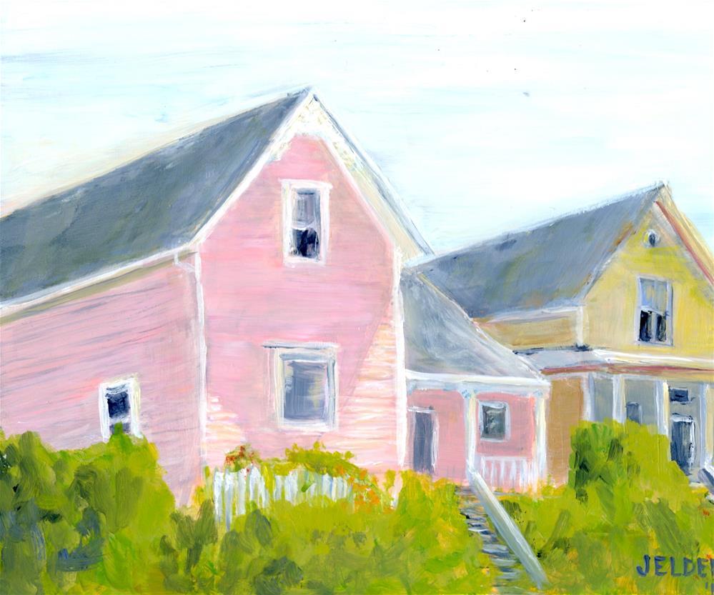 """Homes, B'ham No. 11"" original fine art by Judith Elder"