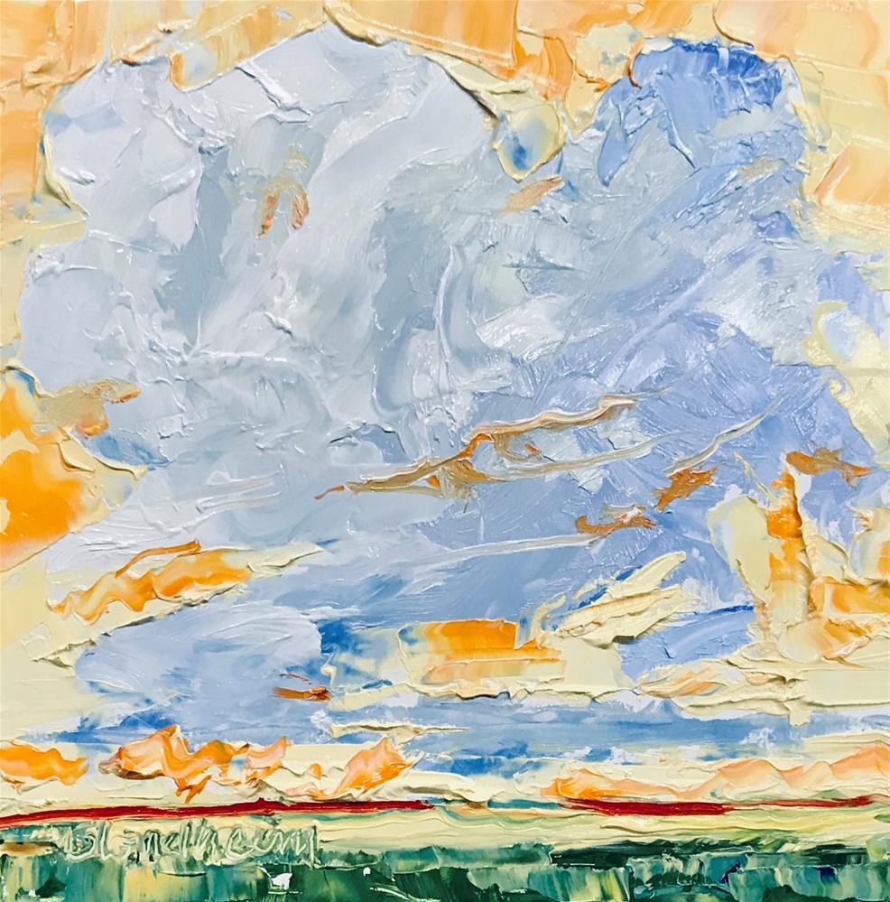 """Yellow Sky"" original fine art by Linda Blondheim"