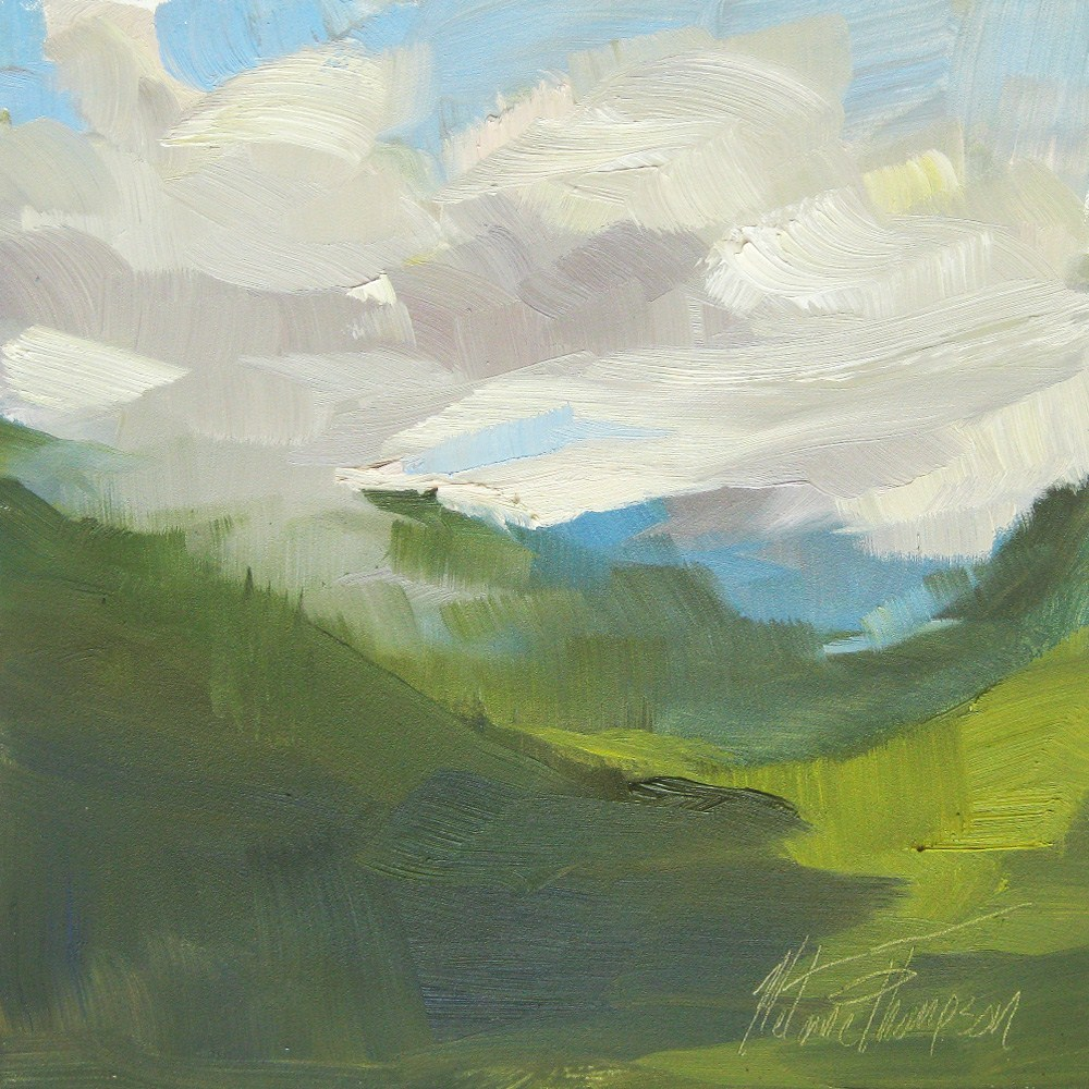 """Valley Shadows"" original fine art by Melanie Thompson"