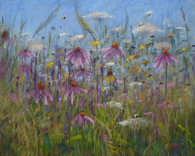 """How Can You Use a Palette Knife with Pastel?"" original fine art by Karen Margulis"