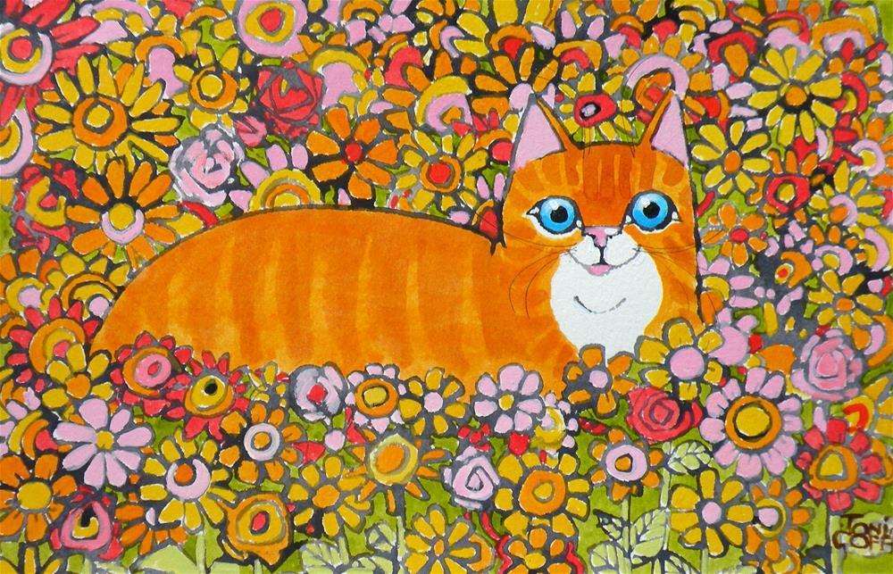 """Ginger Garden"" original fine art by Toni Goffe"