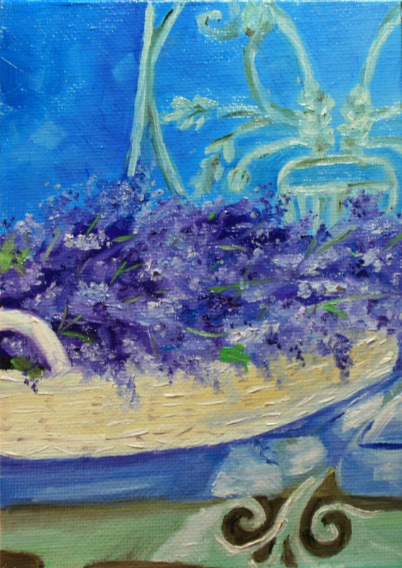 """French Lavender, Too"" original fine art by Jean Nelson"