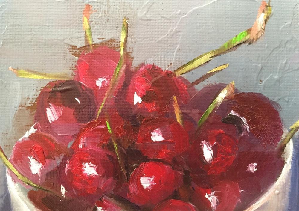 """Sweet Cherries"" original fine art by Gary Bruton"