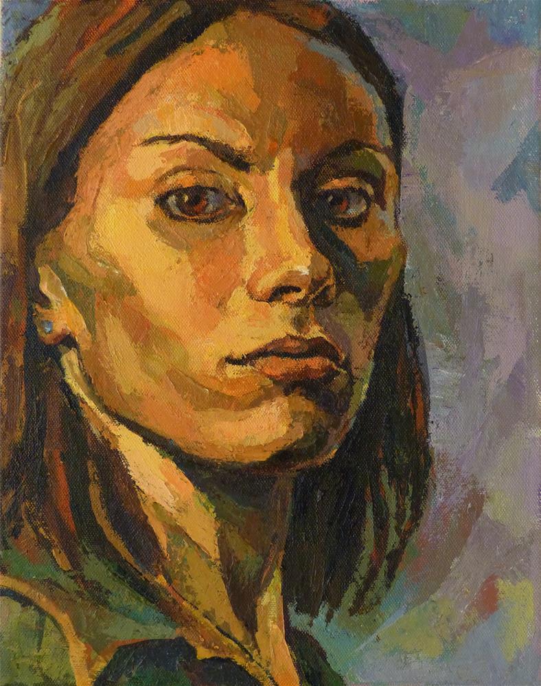 """Self-Portrait3"" original fine art by Katya Minkina"