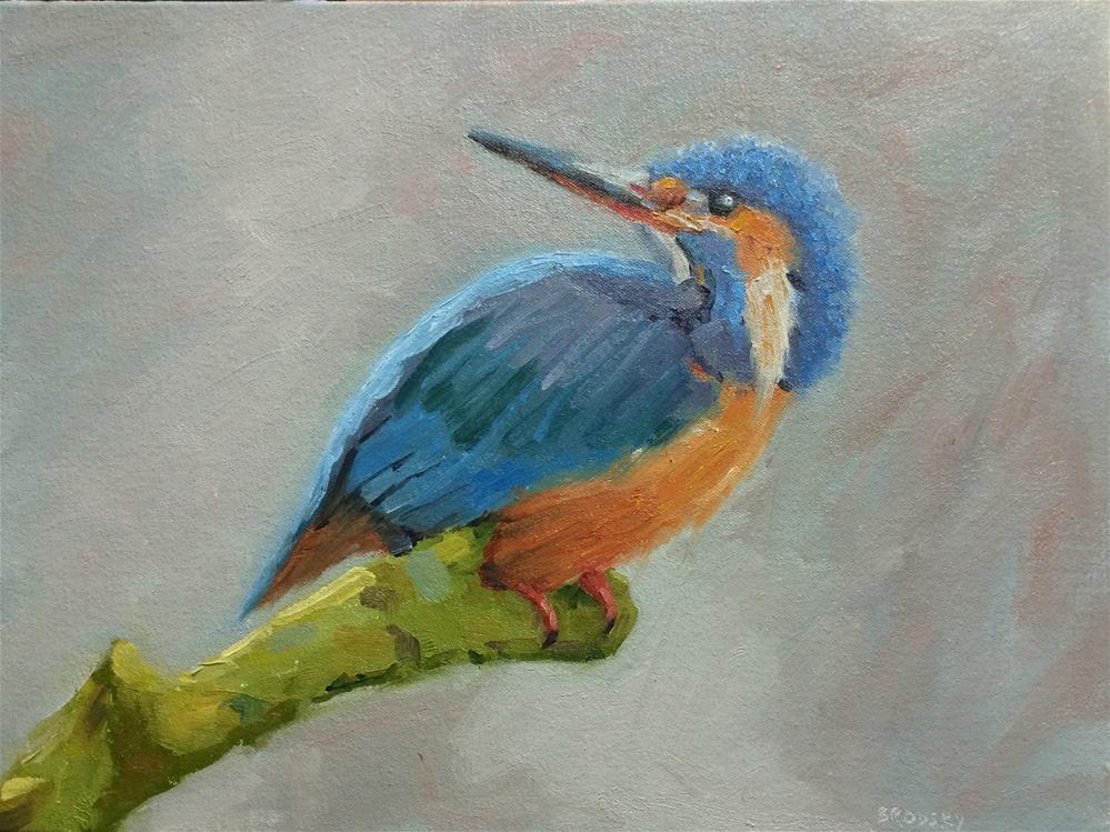 """Kingfisher"" original fine art by Nina Brodsky"