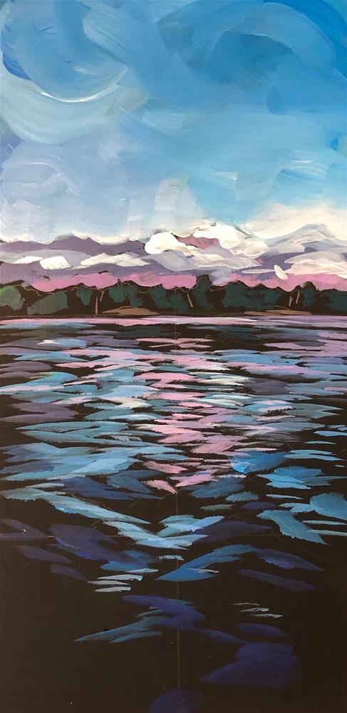 """Nokomis Waves"" original fine art by Kat Corrigan"