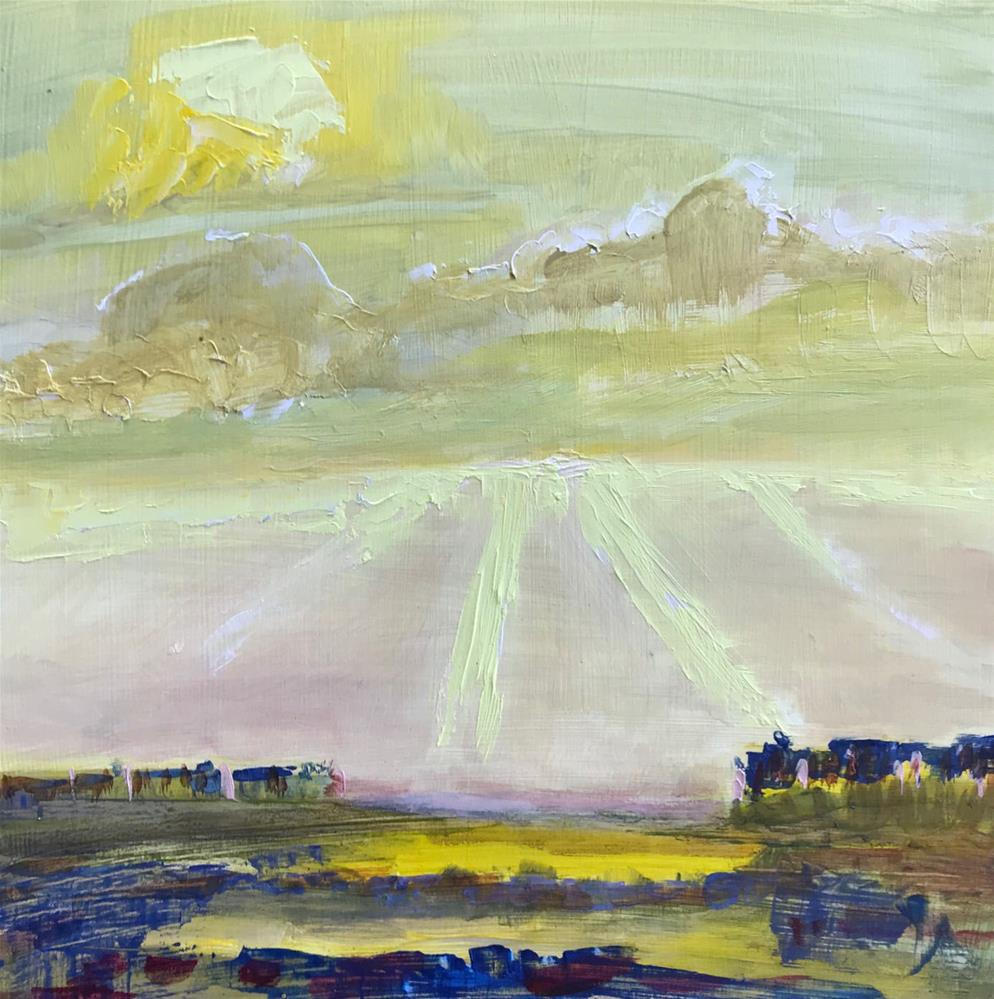 """Foggy morning sunrise"" original fine art by Angela Hansen"