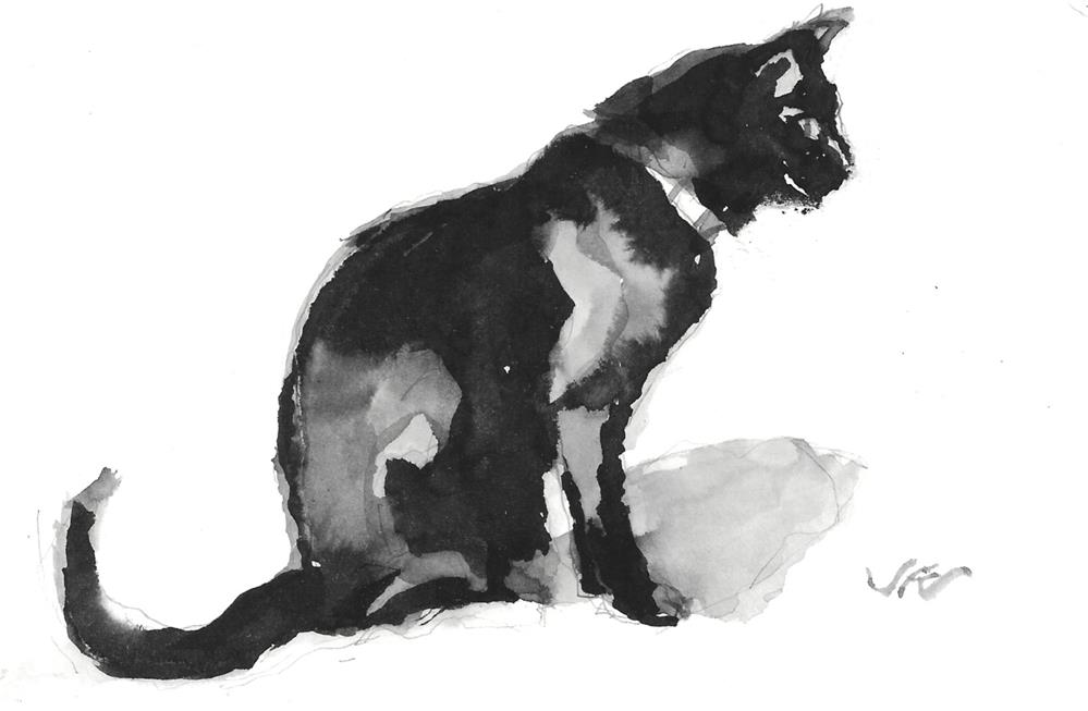 """Daily Cat 171"" original fine art by Jean Krueger"