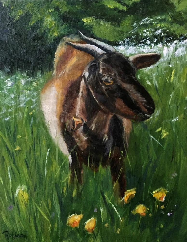 """Chewing Cud on the Camino"" original fine art by Renee Robison"
