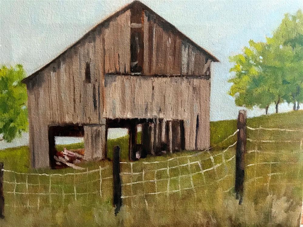 """vacant barn"" original fine art by Betty Argiros"