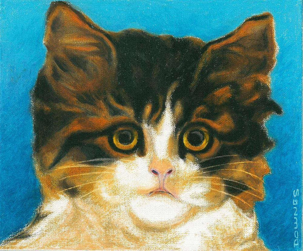 """""""140 CAT 5 LITTLE FEAR"""" original fine art by Trevor Downes"""