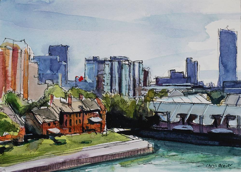 """Buffalo Waterfront"" original fine art by Chris Breier"