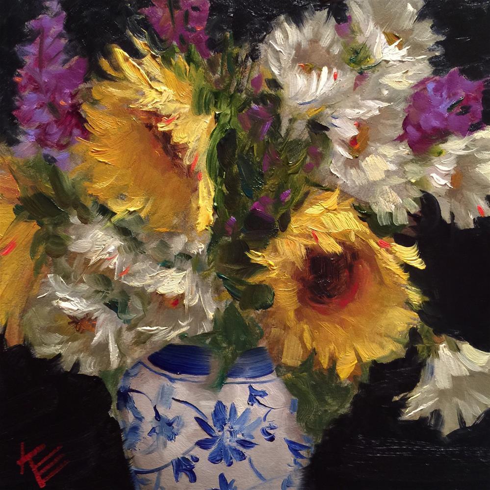 """""""Overflowing"""" original fine art by Krista Eaton"""
