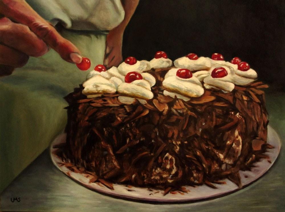 """The last Cherry"" original fine art by Ulrike Miesen-Schuermann"
