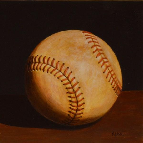 """Foul Ball"" original fine art by Kim Testone"