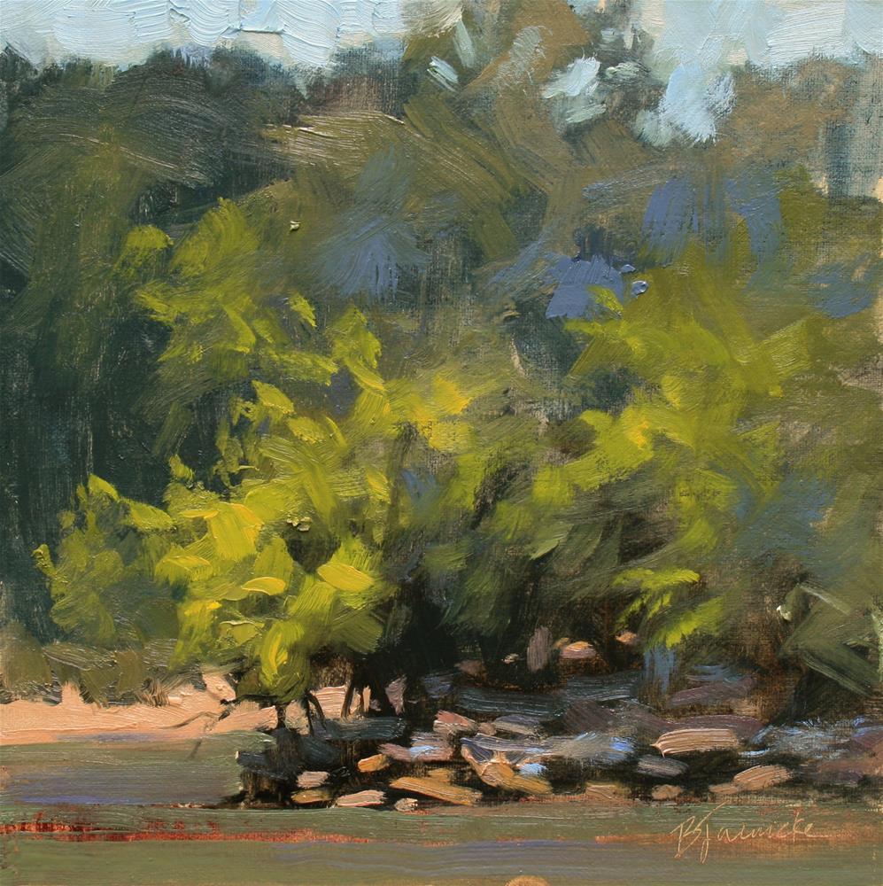 """Across the River"" original fine art by Barbara Jaenicke"