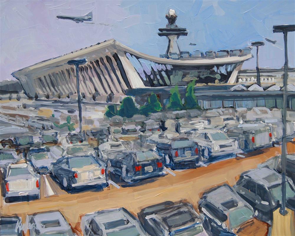 """""""Dulles Parking"""" original fine art by Kevin Larson"""