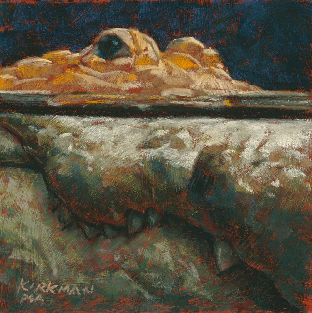 """Albinogator"" original fine art by Rita Kirkman"
