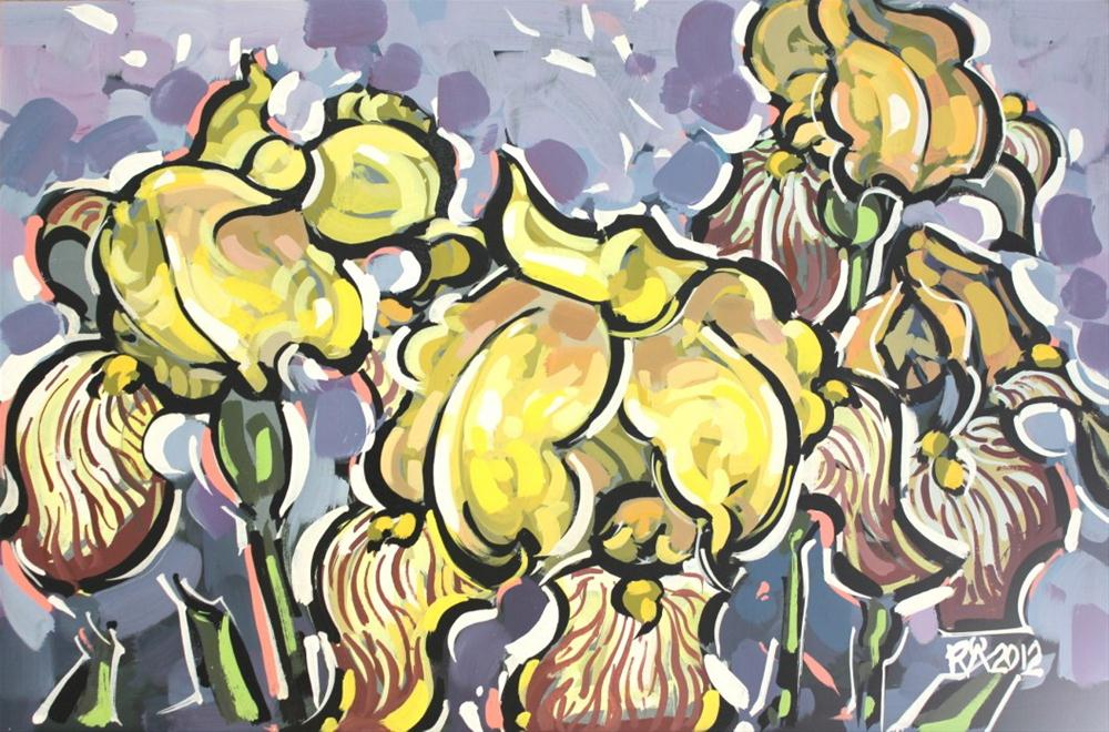 """Yellow Iris 3"" original fine art by Roger Akesson"