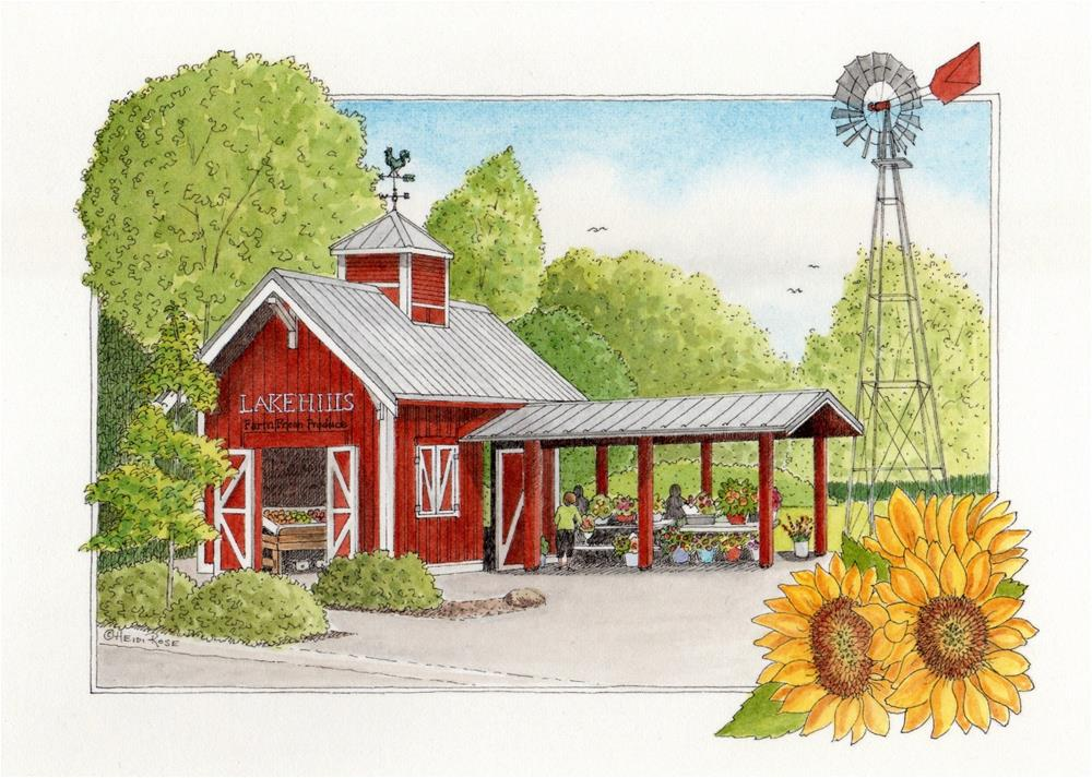 """Lake Hills Produce Stand"" original fine art by Heidi Rose"