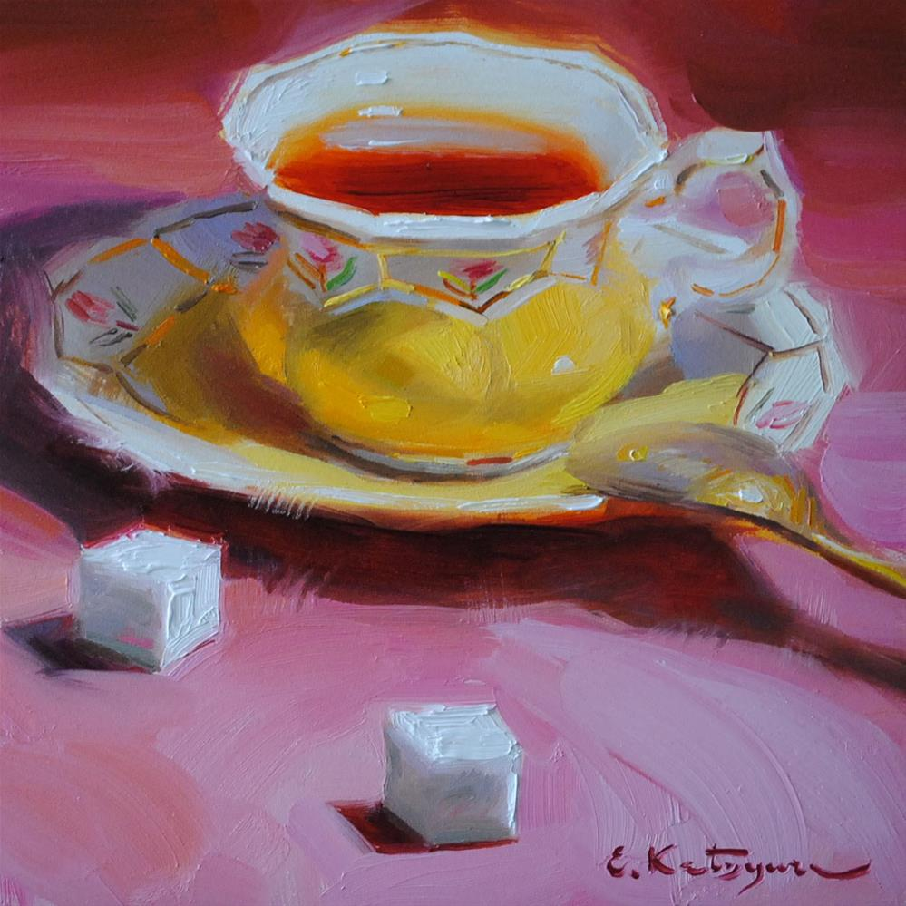 """Tea and Sugar"" original fine art by Elena Katsyura"