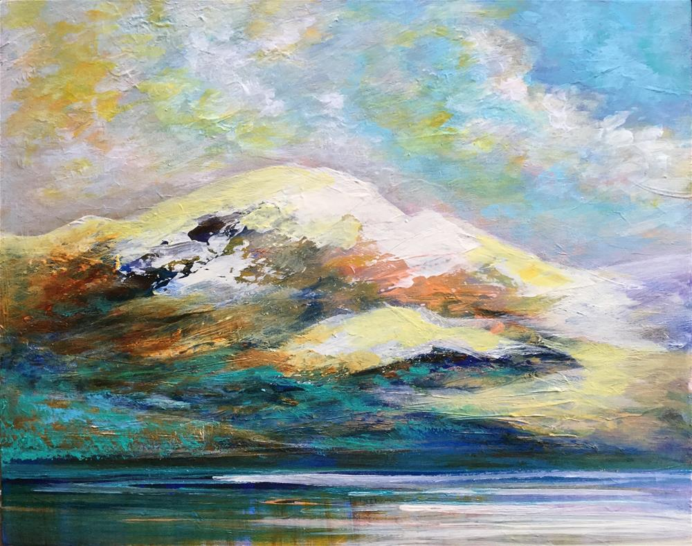 """6074 - Black Mountain Glow"" original fine art by Sea Dean"