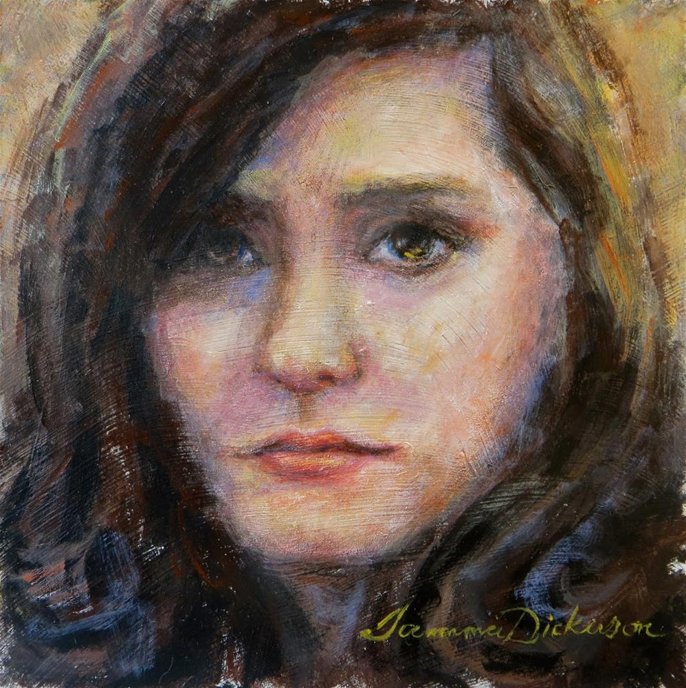 """Serious"" original fine art by Tammie Dickerson"