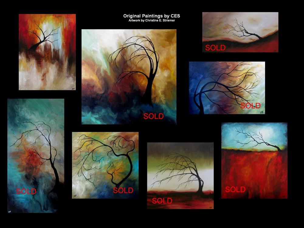 """60 Custom Surreal Tree Painting"" original fine art by ~ces~ Christine E. S. Code"