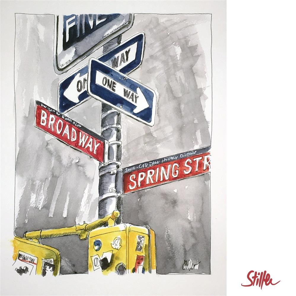 """3704 Broadway"" original fine art by Dietmar Stiller"