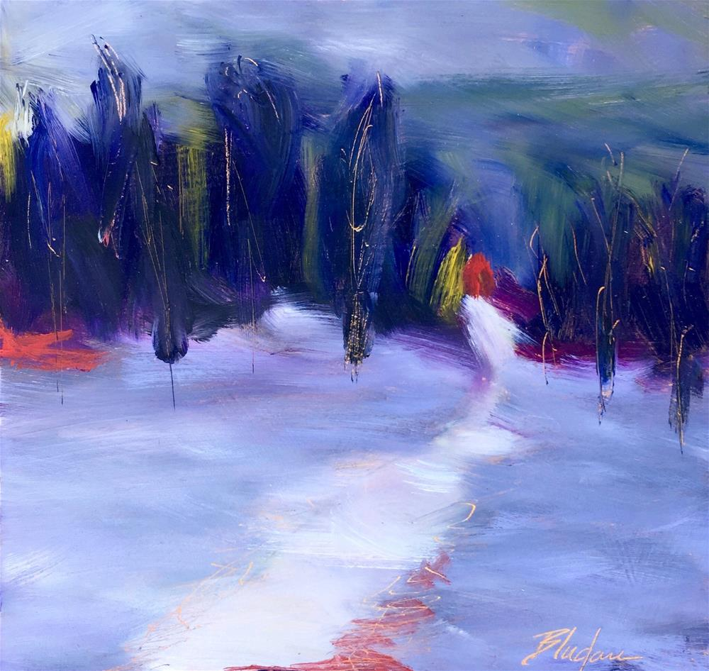 """""""Indigo Countryside"""" original fine art by Janet Bludau"""
