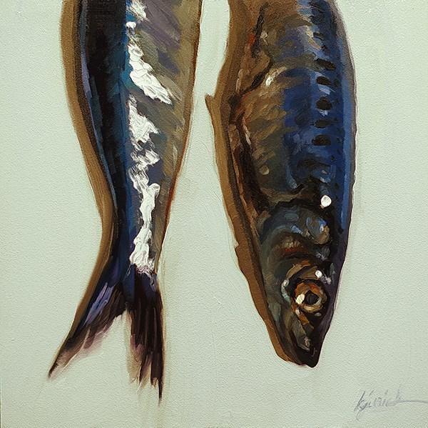 """Heads & Tails"" original fine art by Karin Jurick"