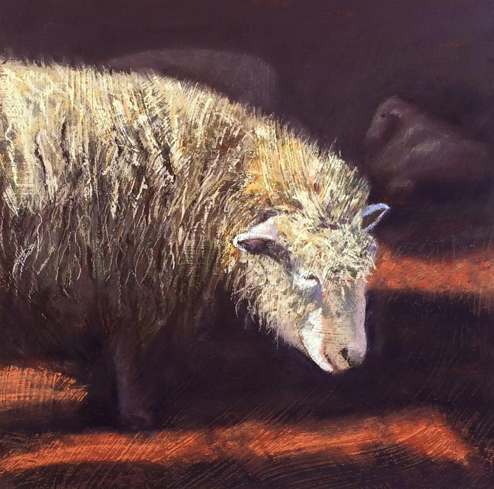 """January Ewe"" original fine art by Cristine Kossow"