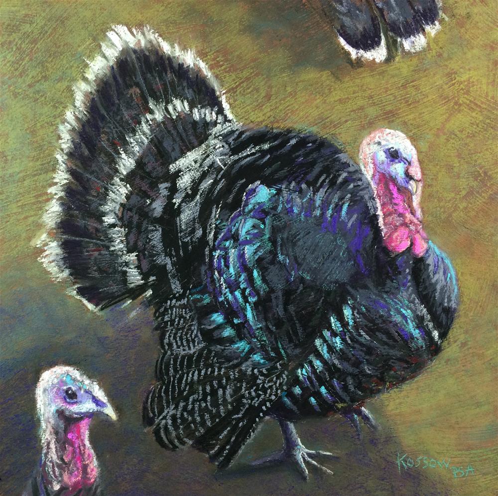 """""""Turkey Trot"""" original fine art by Cristine Kossow"""