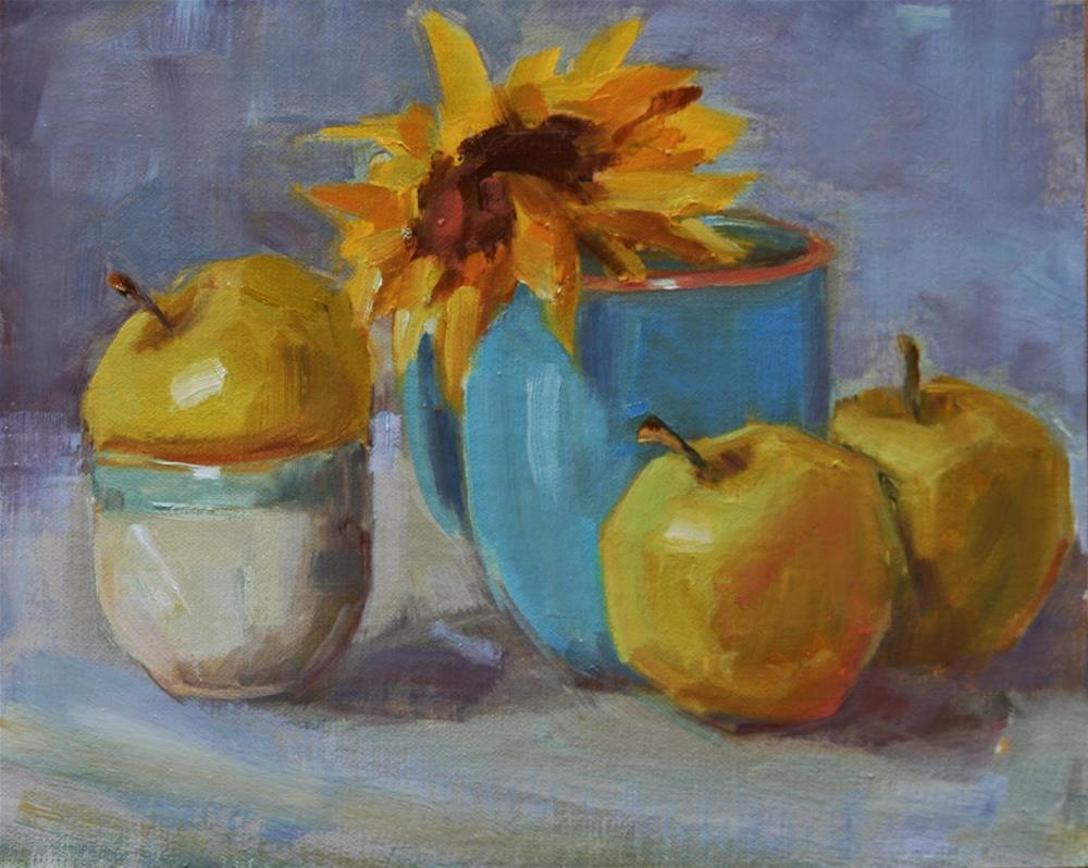 """blues and greens"" original fine art by Carol Carmichael"