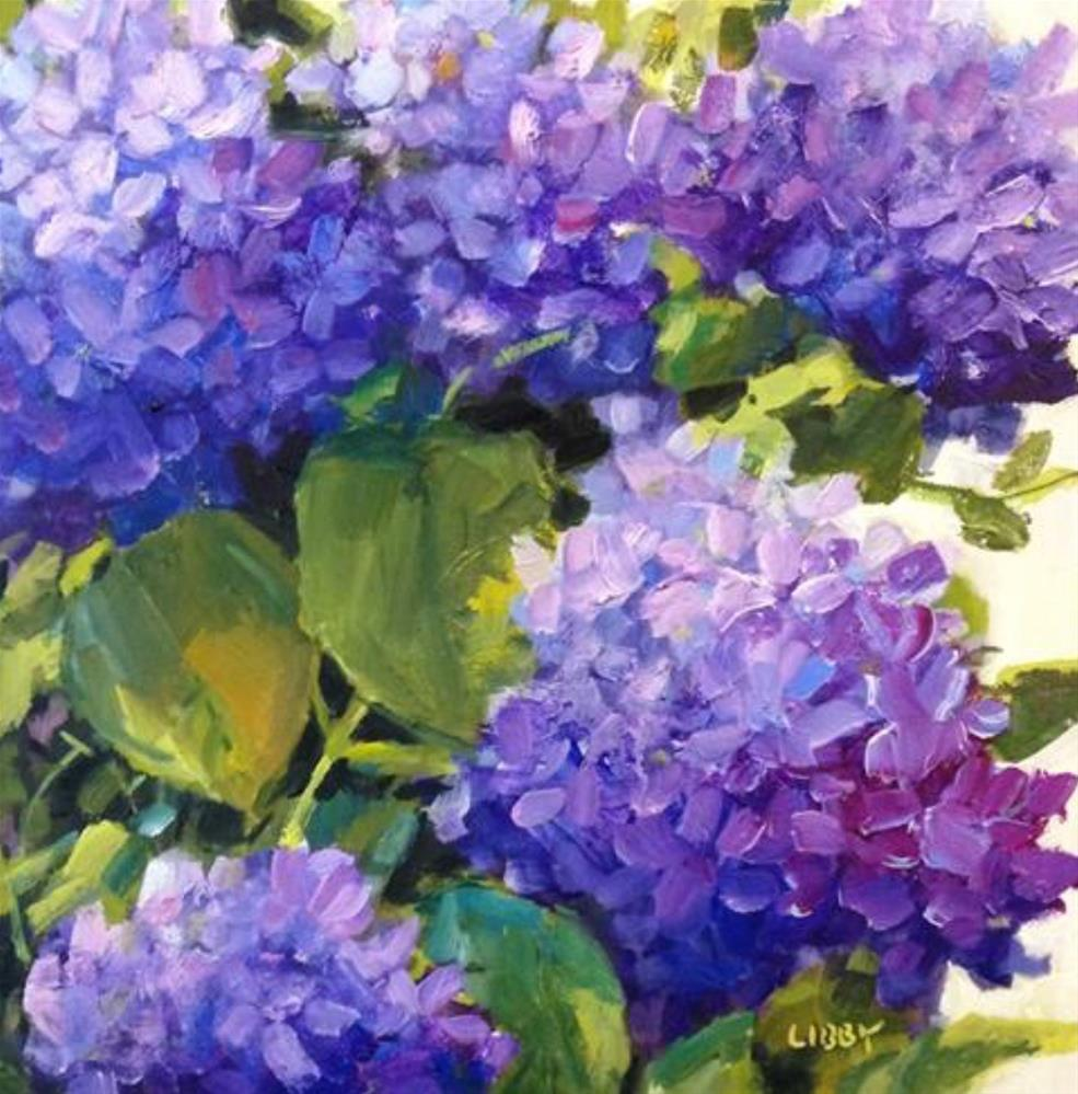 """All In for Hydrangeas"" original fine art by Libby Anderson"