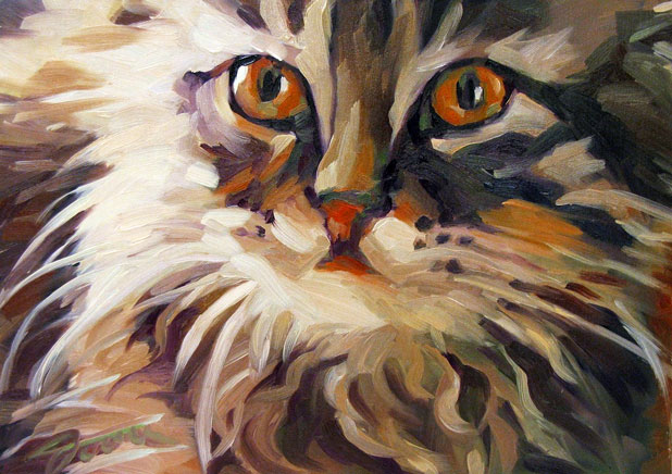 """Tiger Eye Kitty"" original fine art by Joanna Bingham"
