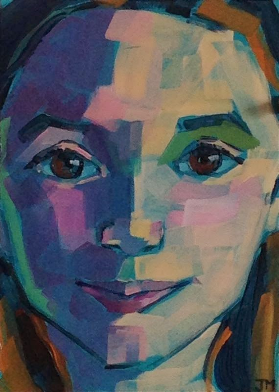"""Half-Hour Portrait"" original fine art by Jessica Miller"