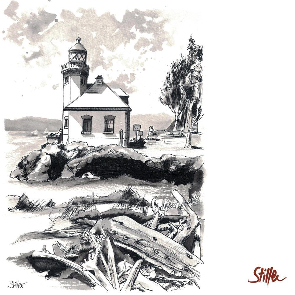 """3437 Lime Kiln Lighthouse"" original fine art by Dietmar Stiller"