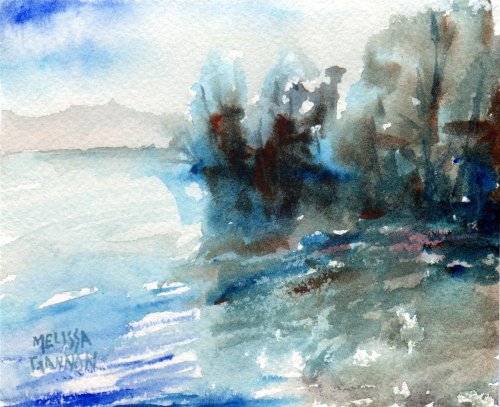"""Lake Tahoe Impression"" original fine art by Melissa Gannon"