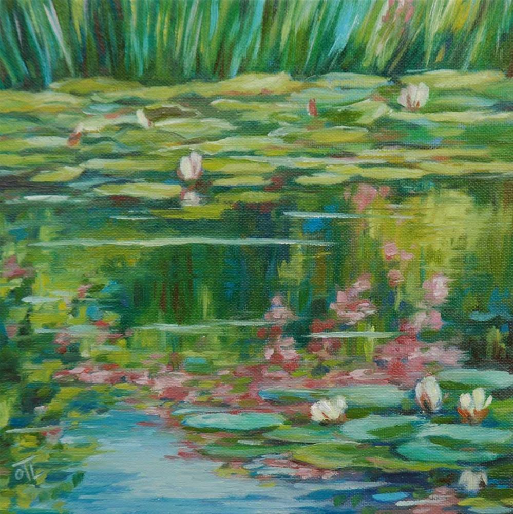 """""""DCS # 13 Flowery pond"""" original fine art by Olga Touboltseva-Lefort"""