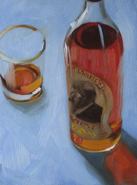 """""""Pappy Van Winkle 6x8 oil"""" original fine art by Claudia Hammer"""