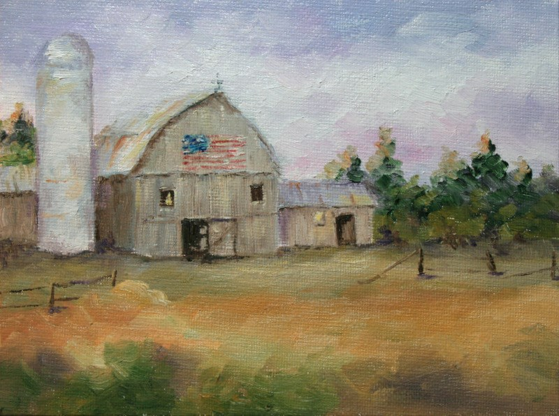 """Faded Old Glory"" original fine art by Jean Nelson"