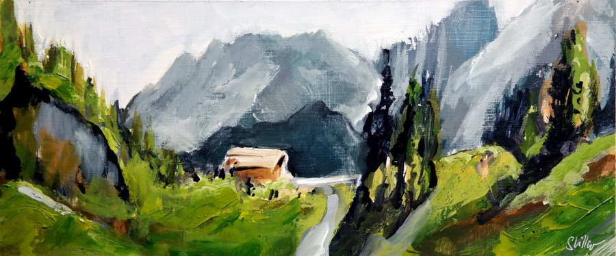 """2123 Mountain Life"" original fine art by Dietmar Stiller"