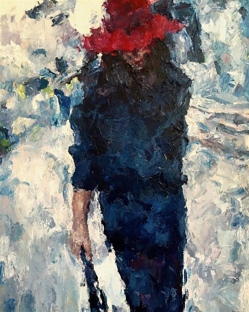 """Strut"" original fine art by Nava Judith"