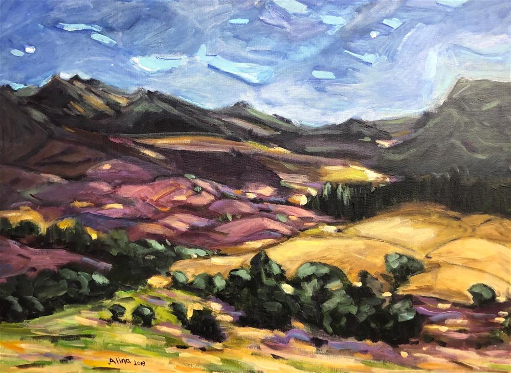 """""""Cairngorm Scotland"""" original fine art by Alina Vidulescu"""