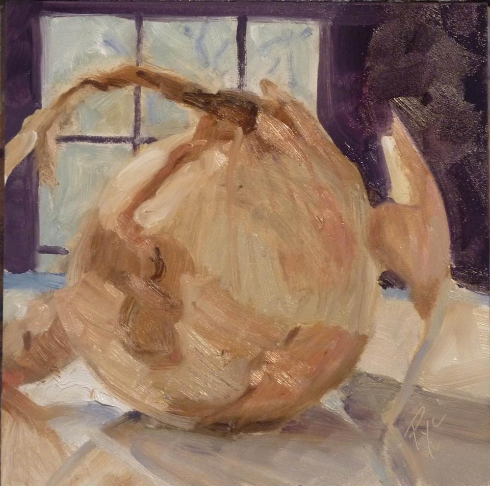 """""""Onion with Window 6x6"""" original fine art by Mary Pyche"""